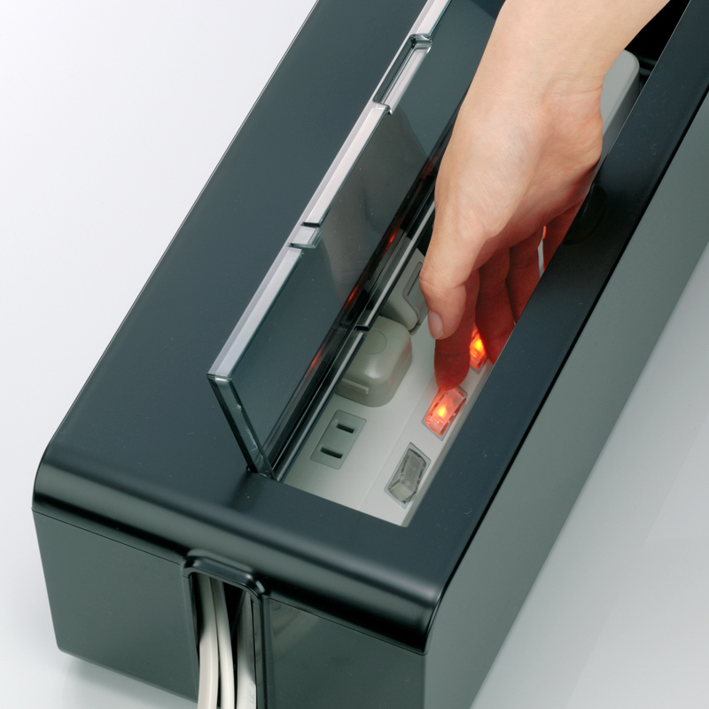 日本进口inomata集线盒电线收纳盒拖线板插座收纳盒电源线收纳盒
