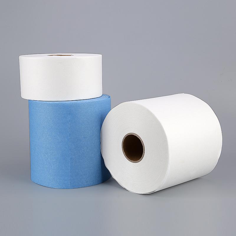 无尘纸工业擦拭纸除尘纸吸油吸水无纺布蓝白大卷工业纸500张包邮