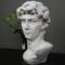 包邮大卫石膏像人物头像美术素描教具模型雕像人装饰雕塑摆件欧式