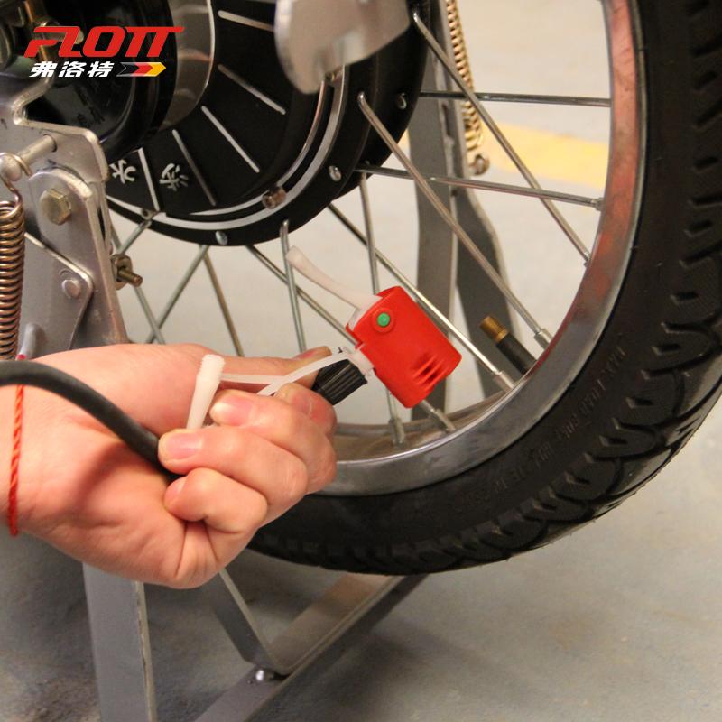 弗洛特打气筒高压便携迷你脚踏电动车汽车山地车自行车打气筒家用