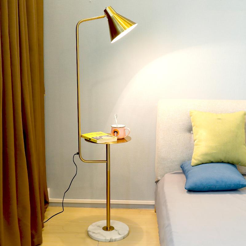 北欧落地灯ins客厅卧室床头灯创意茶几后现代简约LED立式落地台灯