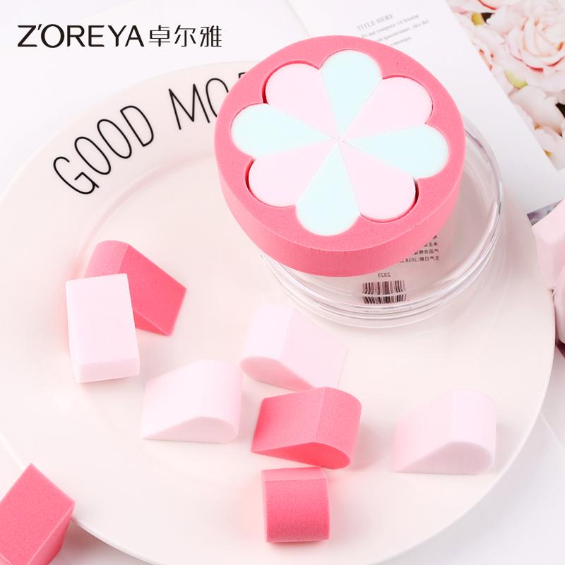 ZOREYA粉扑美妆蛋6块花瓣化妆海绵粉扑干湿两用葫芦气垫彩妆工具