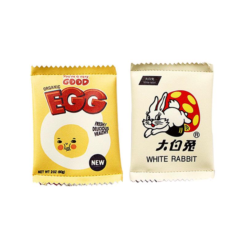 零钱包零钱袋钱包硬钱包大白兔奶糖零钱包 PU 韩国创意趣味起司零食