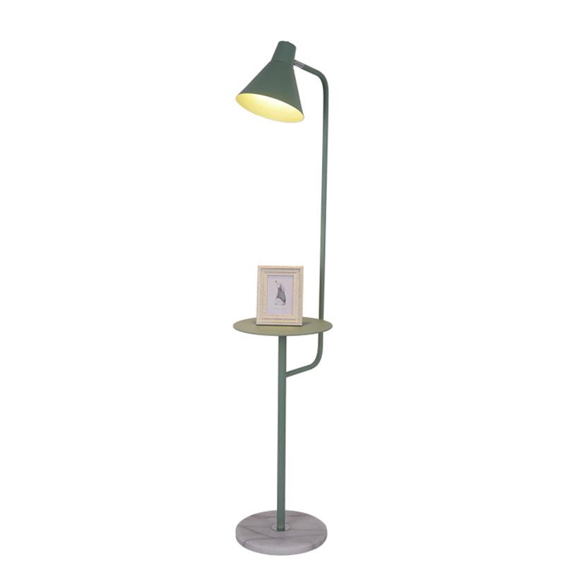落地灯卧室客厅沙发床头茶几北欧宜家创意马卡龙置物立式台灯 ins