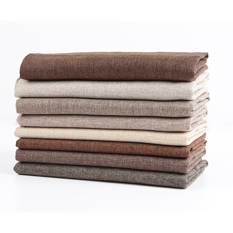 棉麻布料亚麻布料加厚纯色面料防尘老粗布帆布沙发背景布麻布布料