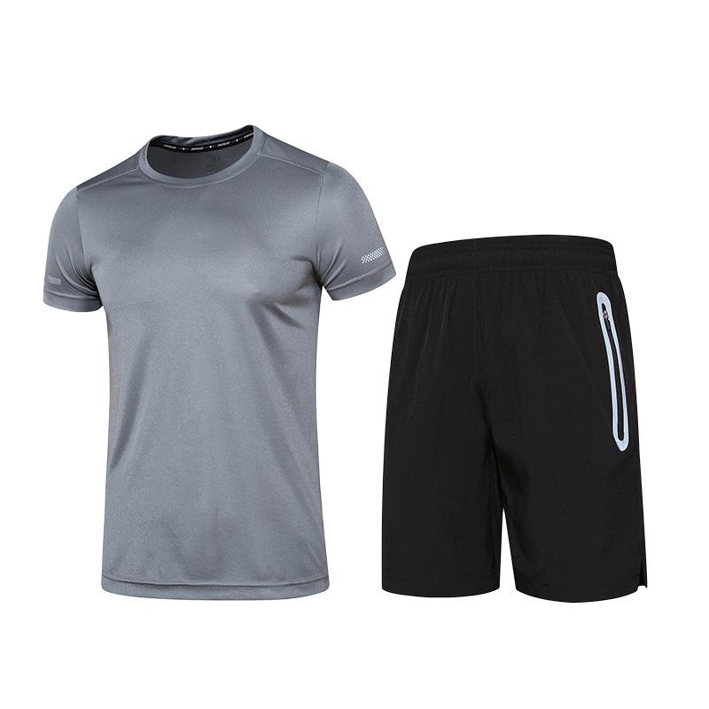 夏季健身衣服男健身房瑜伽跑步短袖t恤宽松速干透气秋冬运动套装