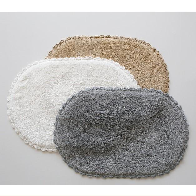韓國進口 地墊門墊手工純棉質腳墊地毯 衛生間地墊吸水好 簡約
