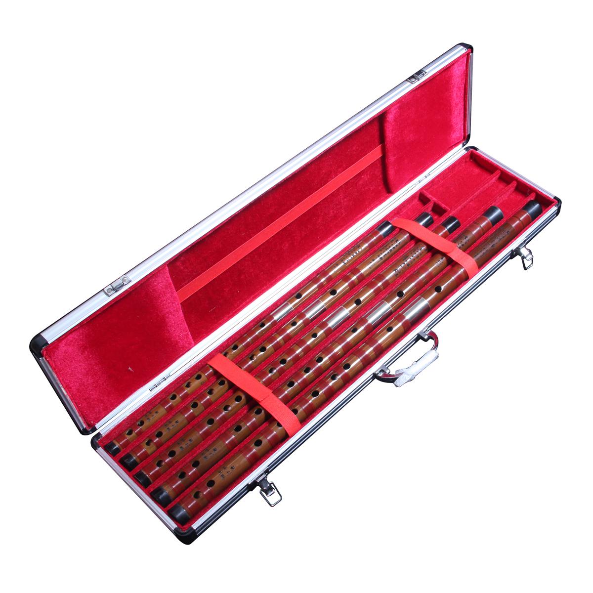 只七支正品高档 6 支 5 专业套笛配铝合金笛盒 CDEFGA 特制苦竹笛子一套