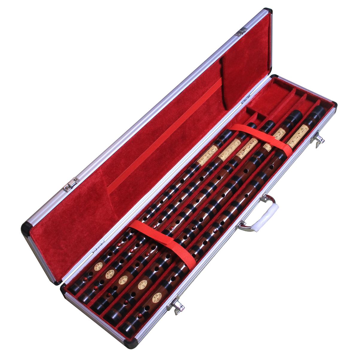 送铝合金笛盒 整只专业套笛五支六支七支 宇声精制一节苦竹笛子