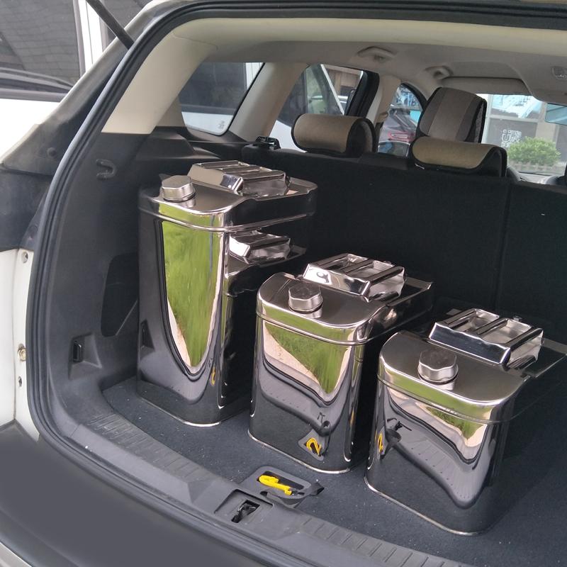 304不锈钢汽油桶30升20升10L柴油壶食用油铁油桶汽车备用油箱加厚