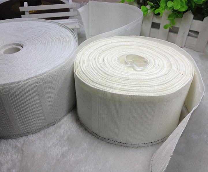特价0.6元/米窗帘配件辅料零剪加厚特密挂钩白布带防晒耐老化10年