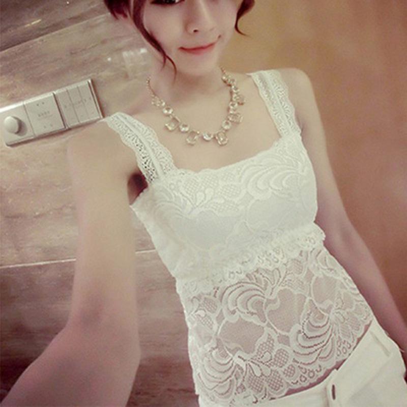 日系秋冬短款chic性感花边蕾丝背心女打底衫 修身外穿V领无袖上衣