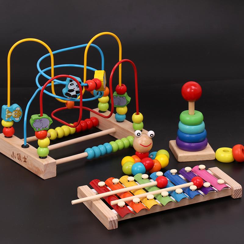 男女孩手敲琴婴幼儿童8个月宝宝八音小木琴益智音乐玩具1-2-3周岁