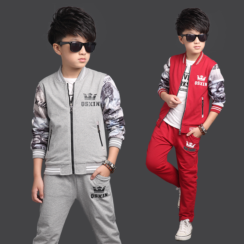 0f5a879cc Buy 8 children's clothing boy big boy suit autumn 2016 new children 10  years old 13 years old 11 years old cotton sweater sports suit 12 years of  age in ...