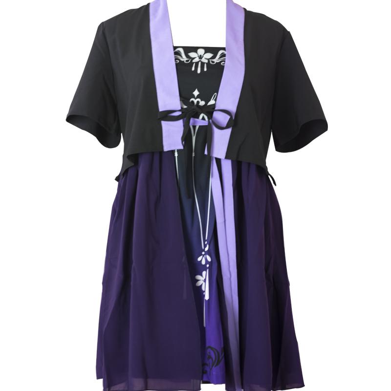 剑网三基三同人周边万花小清新日常两件套小裙子雪纺连衣裙