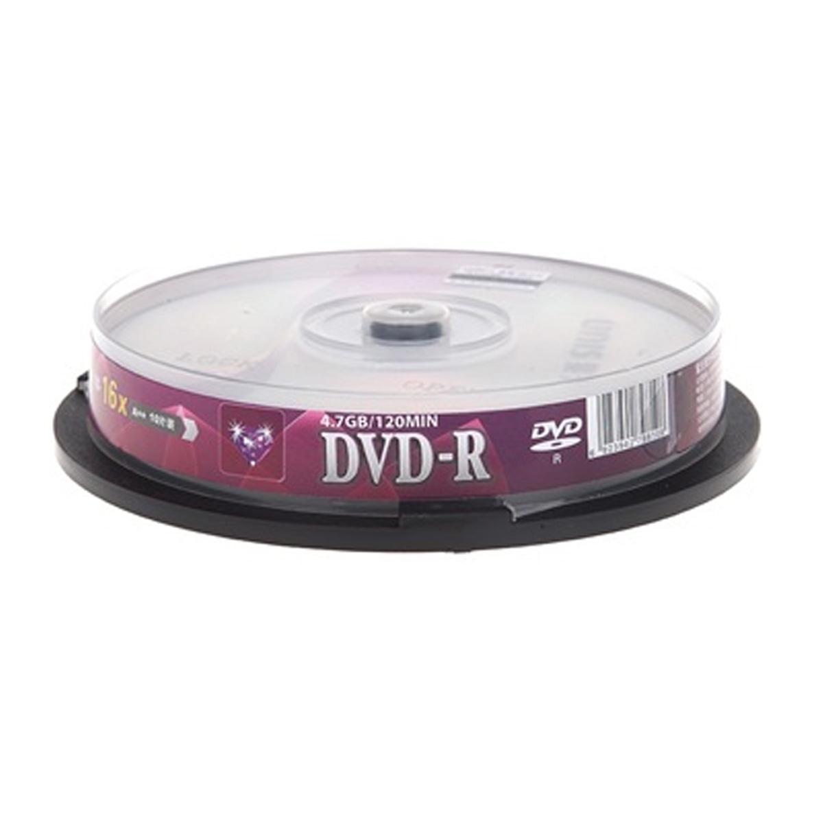 UNIS紫光钻石系列 DVD刻录盘DVD-R4.7G 16X 空白光盘光碟10片