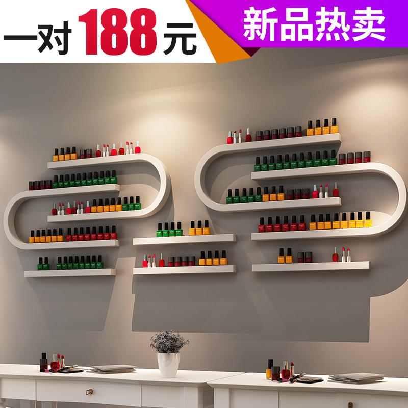 铁艺甲油胶展示架美甲店架子化妆品货架美甲架展示架  指甲油架子