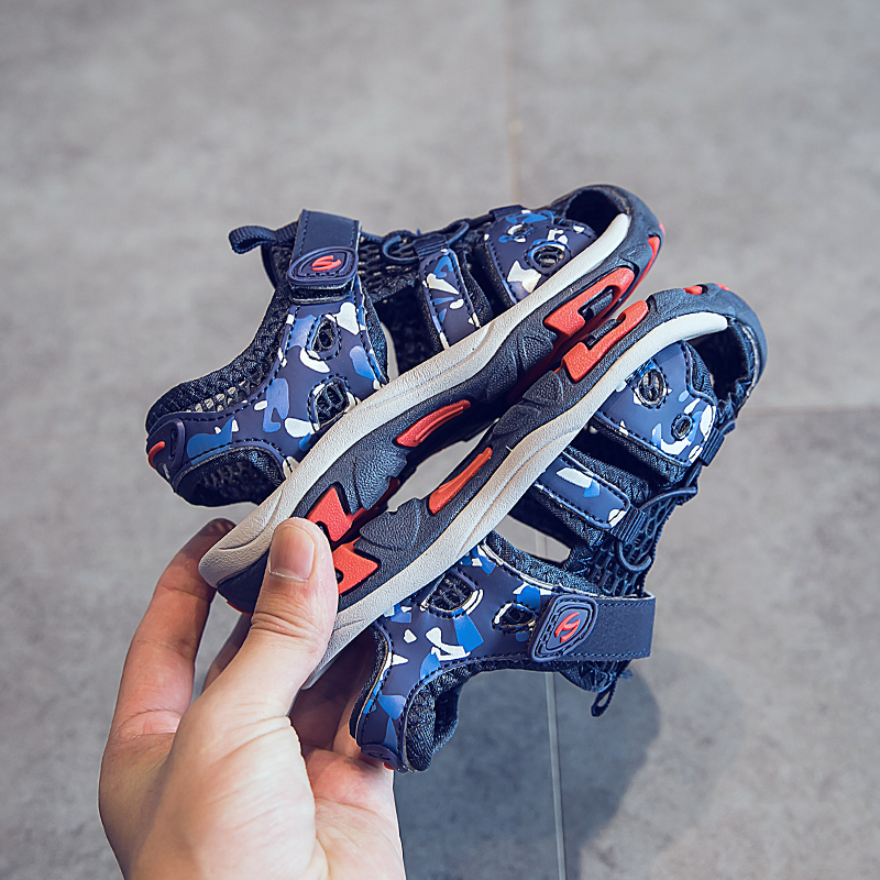 男童凉鞋2019夏季新款中大童软底防滑宝宝童鞋男孩包头儿童沙滩鞋
