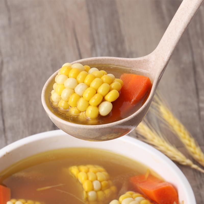 长柄家用塑料汤勺麦秸秆不伤锅粥勺盛汤喝汤勺子耐高温稀饭大号勺