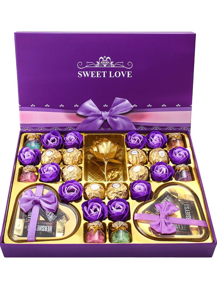 德芙巧克力礼盒装 送老师送女友生日礼物中秋节情人节表白男 女生