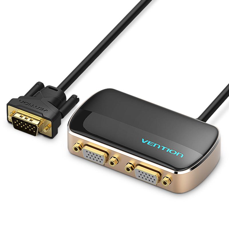 威迅vga分配器一分二高清视频电脑转换显示分屏器1进2出1080p多屏幕分线器切换一拖二投影仪一进二出分频器
