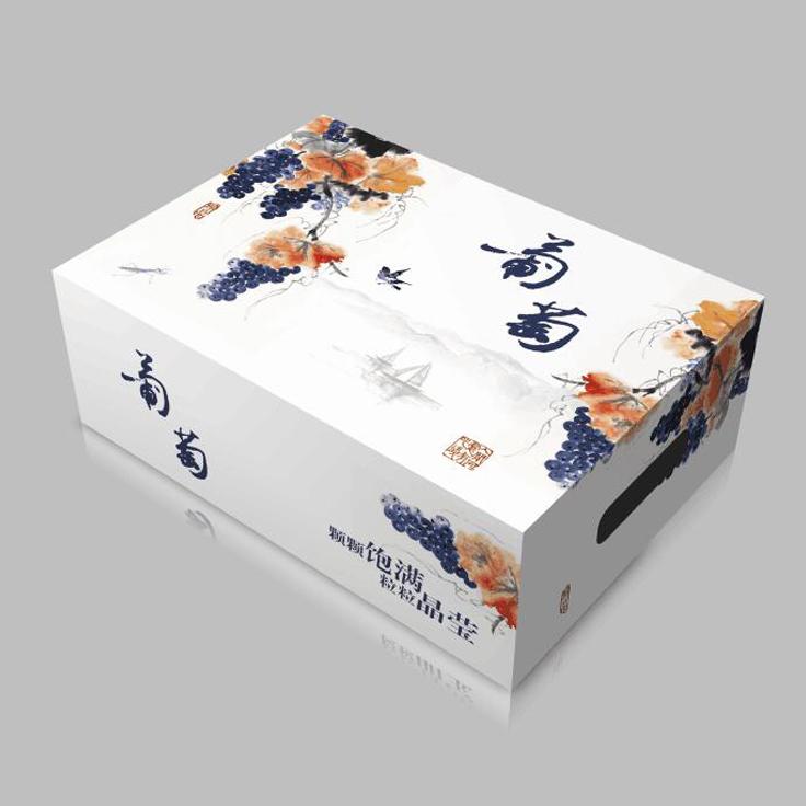 厂家直销葡萄礼盒包装盒烫金工艺5-10斤现货桃子水果葡萄礼品纸箱