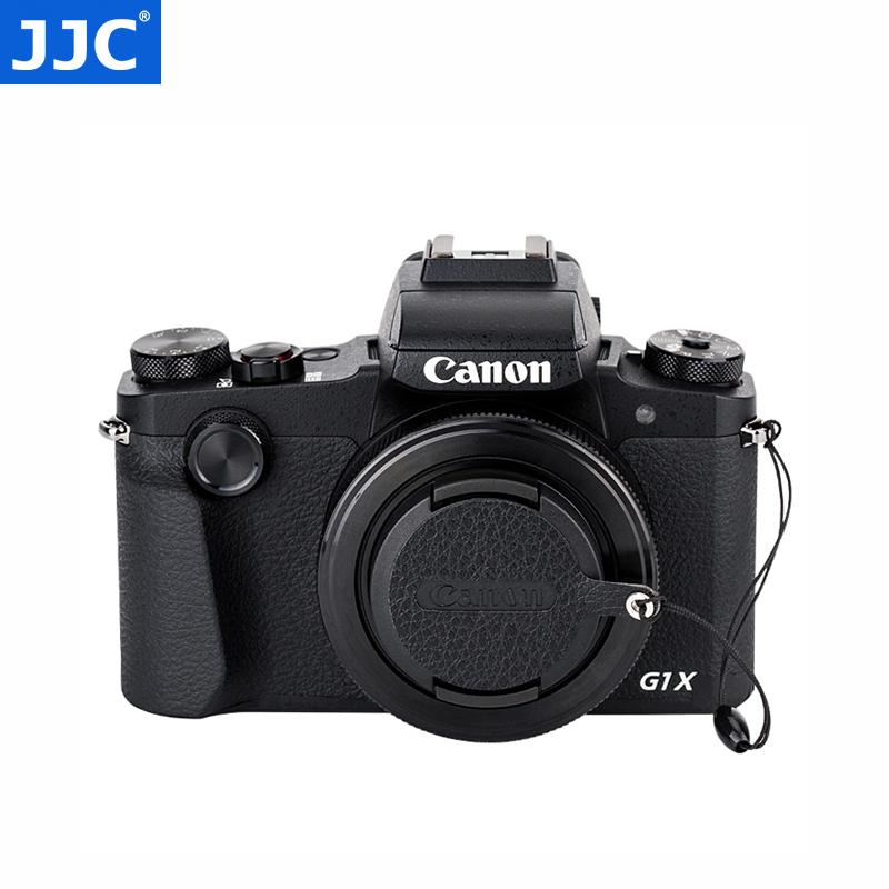JJC 皮贴防丢绳适用于佳能相机镜头盖49 52 55 58mm G1XIII G1X3