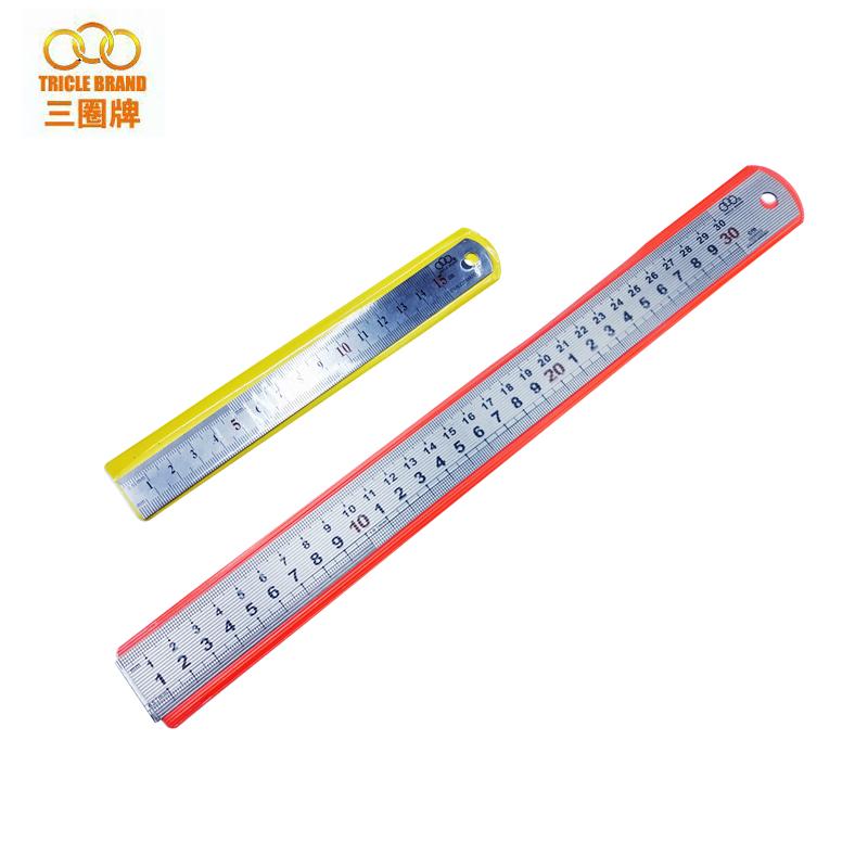【上海三圈工具】不锈钢直尺 钢尺 钢皮尺 家用 学生尺 150mm-2米