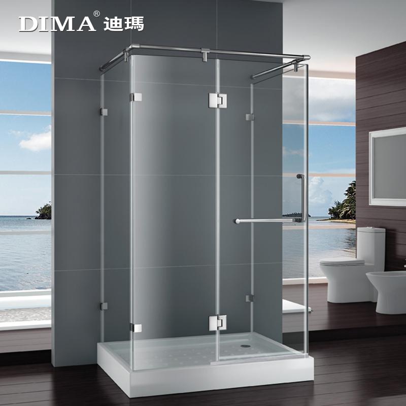 迪玛平开门淋浴隔断淋浴房整体3C玻璃整体浴室洗澡间简易浴房特价