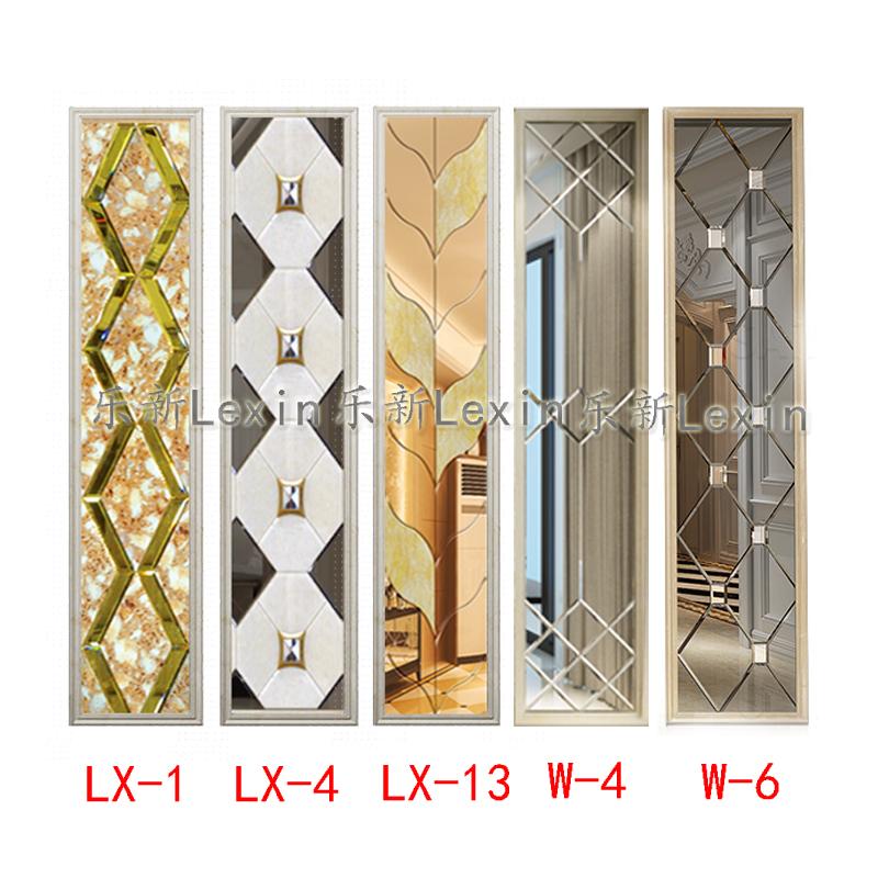 电视背景墙拼镜装饰边框茶镜灰镜艺术玻璃床头沙发装饰镜定做