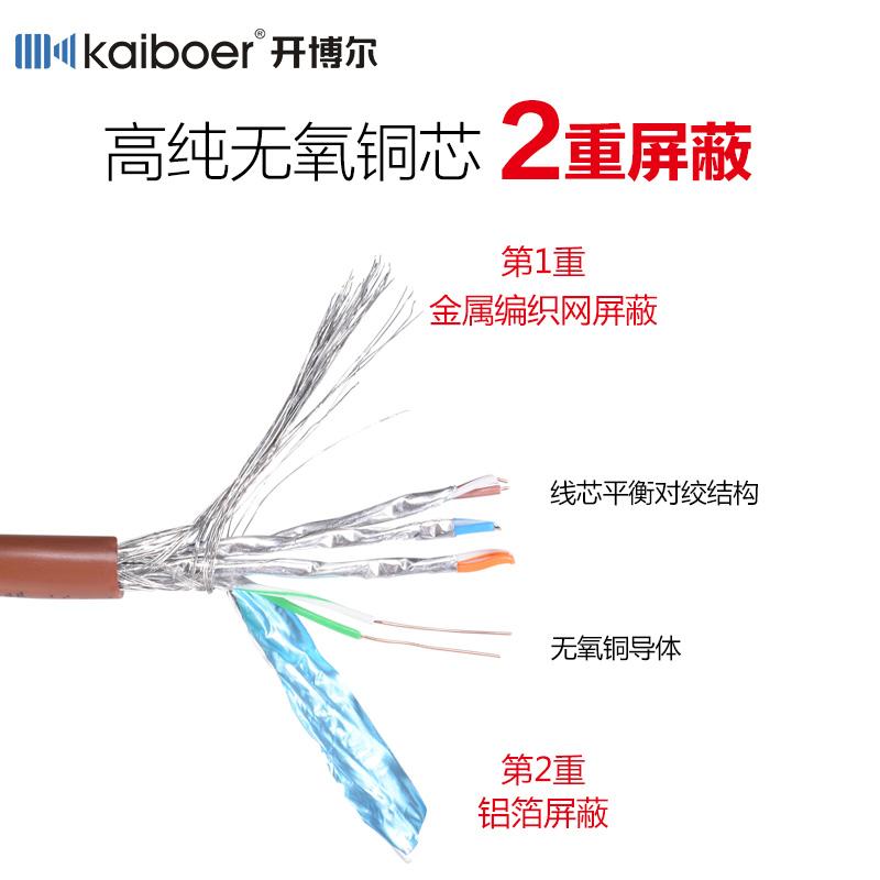 七类网线cat7纯铜屏蔽超六类7电脑宽带线网络家用 高速 千兆网线