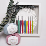 Single handle crochet head soft hand-woven wool crochet Tool Kit tools crochet crochet illustrated package material