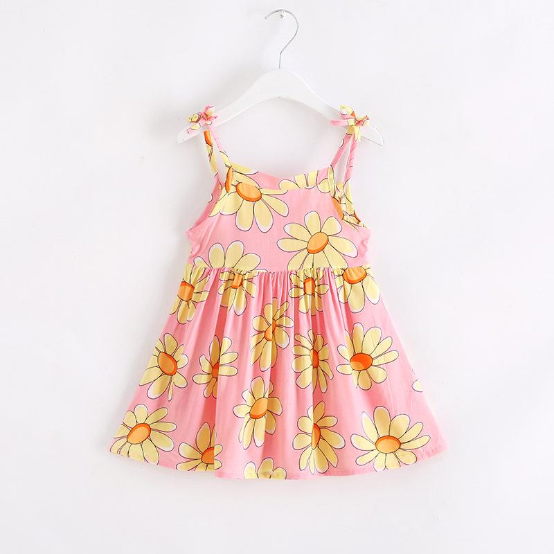 夏季童装 女童吊带裙子宝宝沙滩裙 小童人造棉连衣裙棉绸公主短裙
