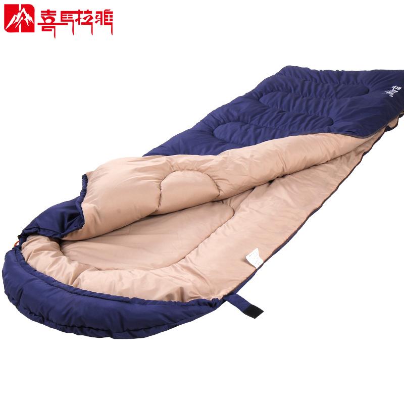 喜马拉雅睡袋大人户外露营成人隔脏单人室内便携双人睡袋冬季加厚