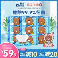 舒洁湿厕纸LINE FRIENDS定制40片*9包小红书推荐擦菌如厕湿巾 (¥80)