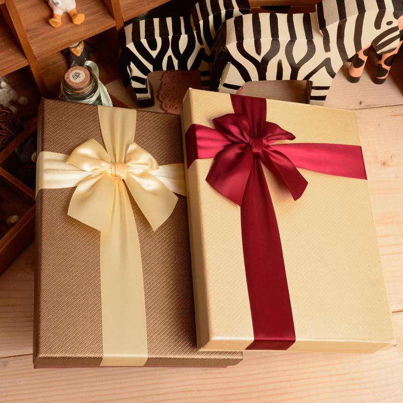 包邮直销礼品盒长方形大号衬衫围巾盒服装内衣盒T恤盒节日礼物盒