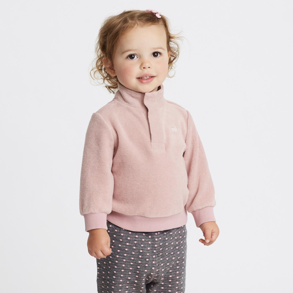 davebella戴维贝拉冬季儿童套头衫男女童保暖摇粒绒外套DB5974