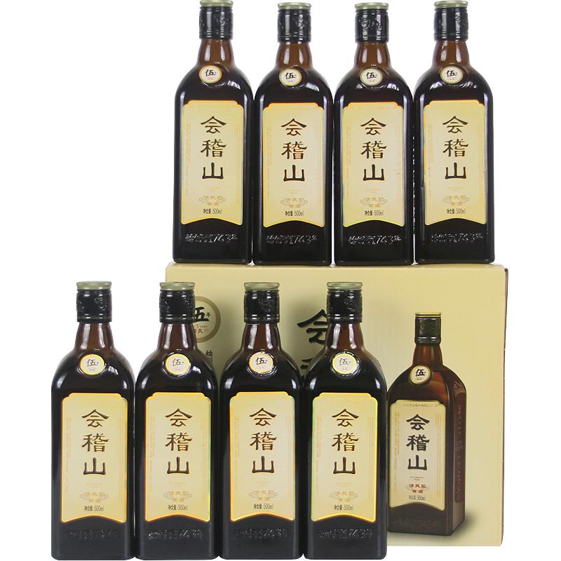 瓶 8 500ml 会稽山绍兴黄酒清爽五年陈清爽型善酿泡阿胶固元膏