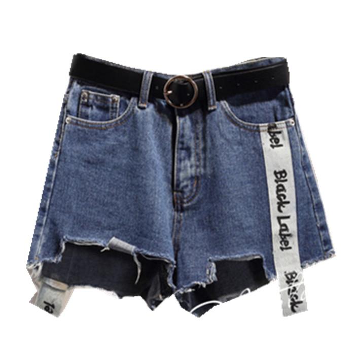春夏装200斤胖mm破洞高腰牛仔短裤女加肥加大码宽松显瘦阔腿热裤
