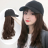 Wig hat female summer one fashion trend long curly hair net red full headgear big wave hat with wig