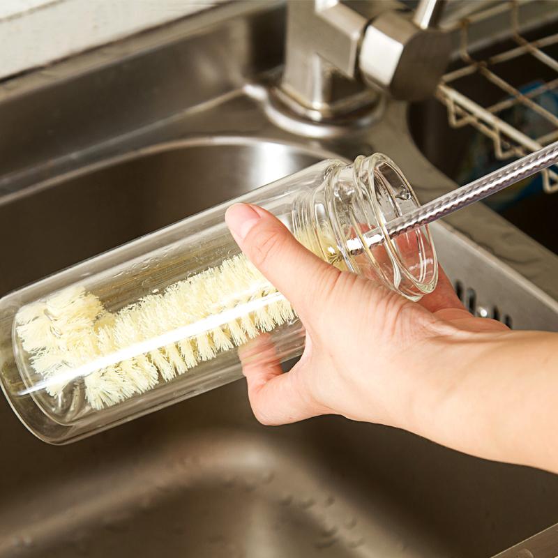 日本KM杯刷瓶刷厨房清洁刷奶瓶刷瓶底刷锅刷短柄洗杯刷茶杯玻璃刷