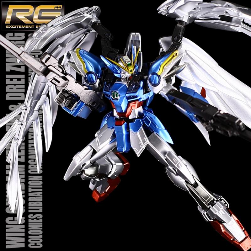 千手万代金属着色RG17 天使飞翼零式高达掉毛EW版拼装模型礼物