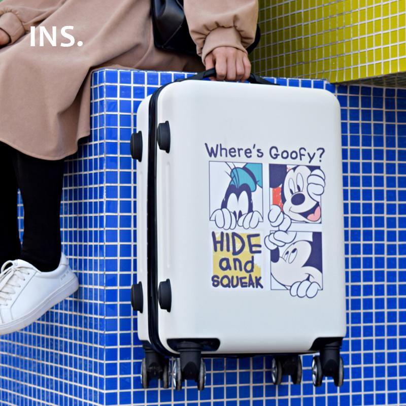 韩版卡通拉杆行李箱少女学生儿童小型可爱初中高中生旅行箱万向轮