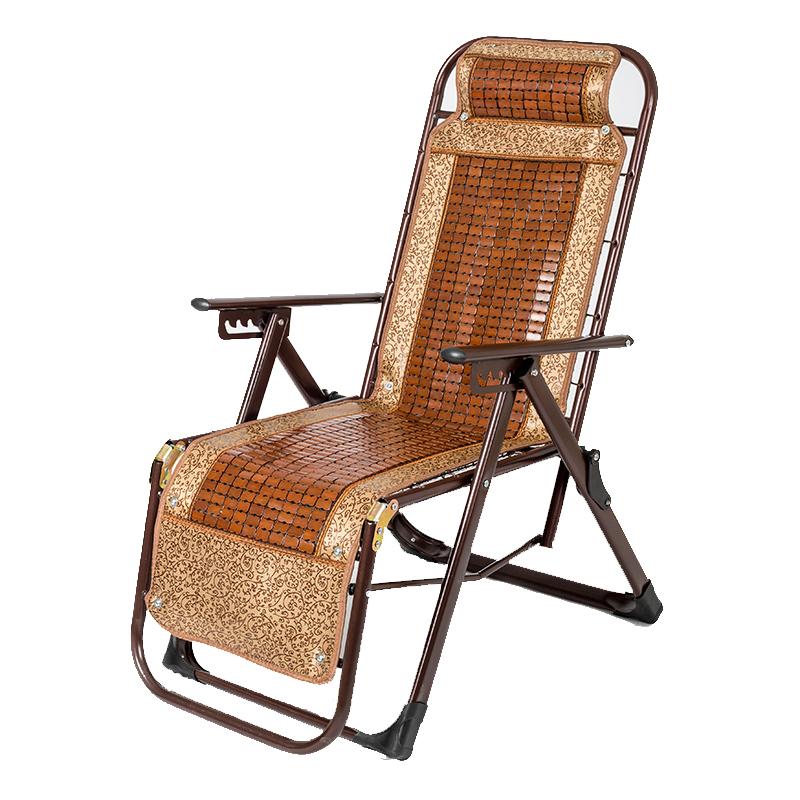 阳台家用折叠椅折叠椅子沙滩靠背麻将椅办公室成人躺椅竹椅午休椅【图5】