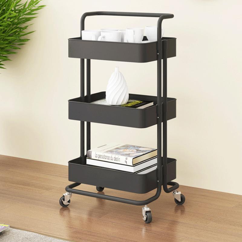 物架可移动带轮婴儿用品收纳架