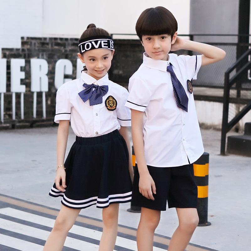 夏装儿童班服幼儿园园服演出服六一中小学生校服老师运动套装定制