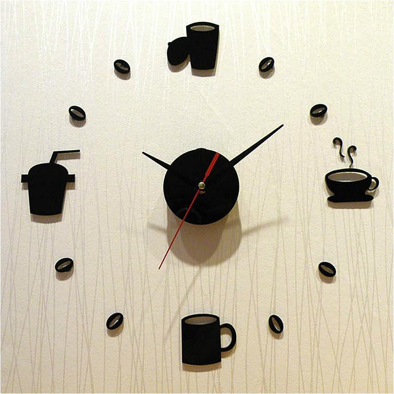 創意現代簡約掛鐘3D立體鍾客廳電子鐘數字時鐘鐘錶靜音牆貼DIY鍾