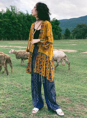 青海旅游衣服民族风套装女夏大西北旅行女装西藏新疆沙漠草原穿搭