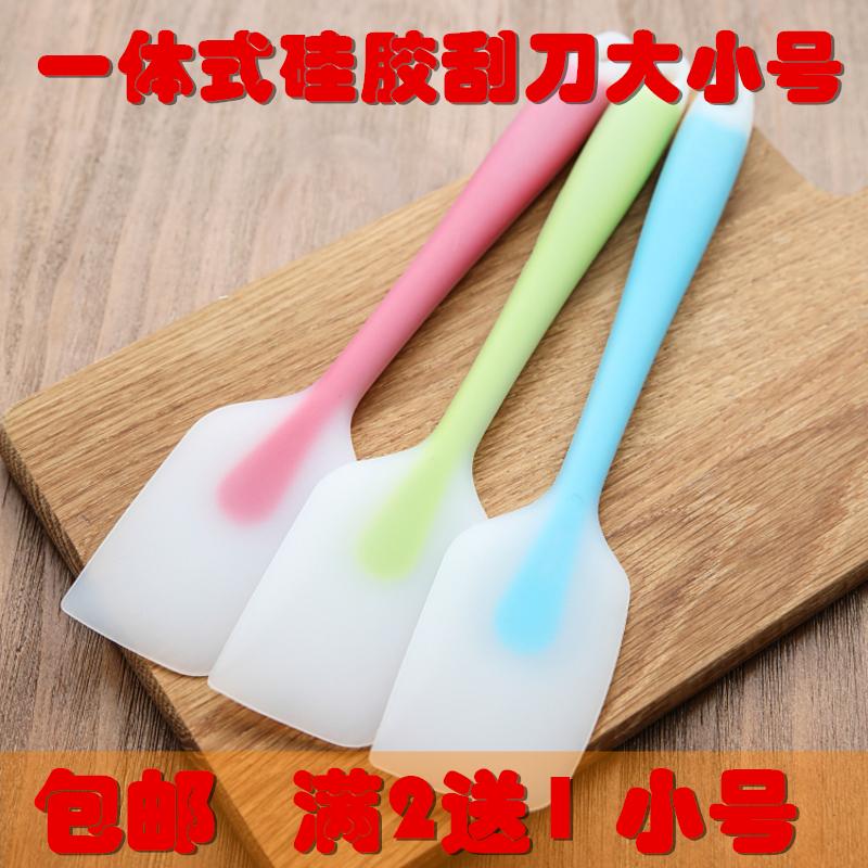 烘焙工具 標準一體式矽膠蛋糕刮刀 奶油抹刀 剷刀 耐高溫攪拌棒