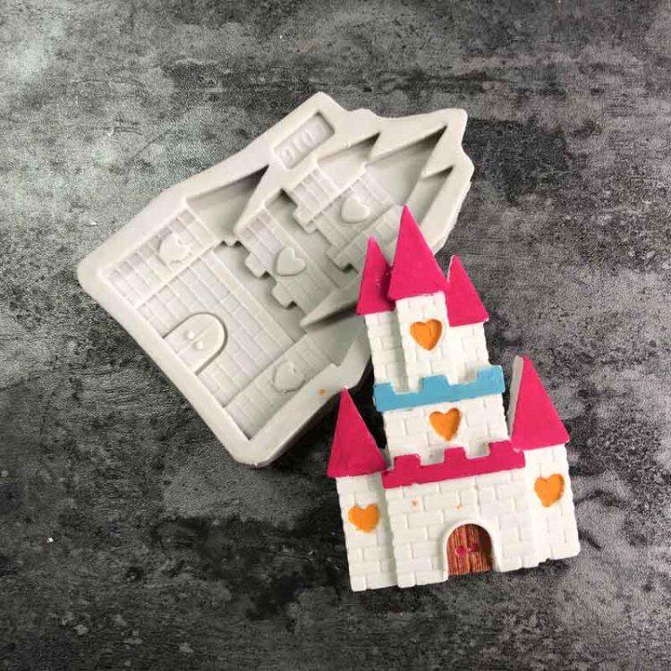 城堡房子小屋子圣诞节巧克力翻糖模具姜饼屋硅胶烘焙树屋蛋糕模具